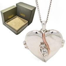 Clogau Silver Rose Welsh 9ct Gold Christmas Past Present Future Locket Pendant