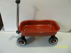 Small Red Wagon Doll Christmas Fall Decor Toy