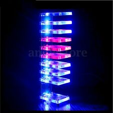 DIY Dream Crystal Electronic Column Light Cube LED Music Voice Spectrum Kit US