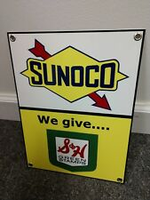 Sunoco S&H Stamps Gas Oil gasoline sign S & and H .Free ship on any 8 signs