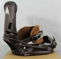Burton Malavita Leather EST Snowboard Bindings Large Deep Cognac (US 10+) New