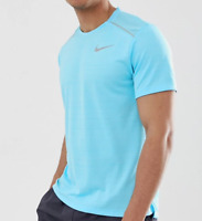 Nike Running Tee Mens XL Authentic Breathable Dry Miler Run Short Sleeve Blue