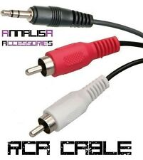 CAVO AUDIO 2 RCA - MINI JACK 3,5mm MASCHIO MALE 1,2 METRI AUX 1,5 CABLE ADAPTER