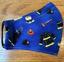 FIREMAN GEAR  Handcrafted  Cotton Fabric Mask with filter pocket