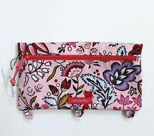 New Pink Foxwood Blush Vera Bradley Lighten Up Pencil Pouch Bag Nwt