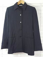 MAX MARA sz 10 (or 6 us ) womens Navy Blue Stripe Wool Jacket [#2967]