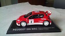 1/43 PEUGEOT 206 WRC RALLYE DE MONTECARLO 2003 DEAGOSTINI ALTAYA IXO IST