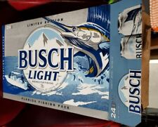 Empty 24 Pack Busch Light Beer Cans Limited Edition Florida Fishing Pack