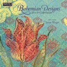 2019 Wells St by Lang Bohemian Designs Wall Calendar Susan Winget NEW 12x12 WSBL