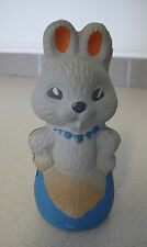 Russian Soviet Rubber toy Mother Rabbit in apron squeaky 1950 Зайчиха в фартуке
