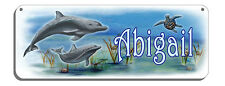Dolphins Sea Turtle Clam Welcome Wall Sign Customize Gifts Outdoor Indoor Plaque