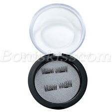 1 Pair Handmade 3D Natural Magnetic False Eyelashes Reusable Makeup Eye Lashes