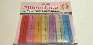 Pillen-Tablettendose , Medikamentenbox 7 Tage Früh-Morgens-Mittags- Abend +C+
