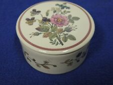 Floral Hawthorne Manor Trinket Box with Lid Porcelain Wonders of Nature - Rose