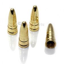(4) Gold/Brass ABS Bullet Spike Tire/Wheel Stem Valve Caps for car-truck-hotrod