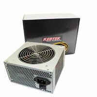 KENTEK 650W 120mm Fan ATX 600W Gray SATA PCIE Power Supply Quiet Dual 12V Rails