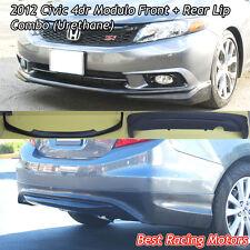 Modulo Style Front + Rear Bumper Lip Combo (Urethane) Fit 2012 Honda Civic 4dr