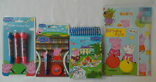 Peppa Pig - 3 Pack Stationery Set + Birthday Card with Gift Wrap Sheet & Tag