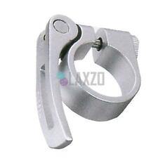 """New Kalloy MTB Bike Seat Post Clamp 31.8mm 1-1//8/"""" w// Quick Release Silver"""