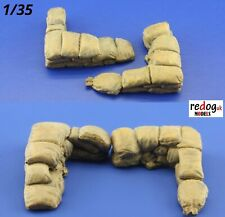 Redog 1/35 Military Sandbags for Trenches Scale Model Resin Diorama Kit 16