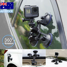 Triple Cup DSLR Camera Suction Mount GoPro Hero 5/4/3 Car Holder Window Mount