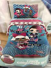 2 pc Twin/Full LOL SURPRISE DOLL Comforter Sham Reversible Kids Bedding Sets