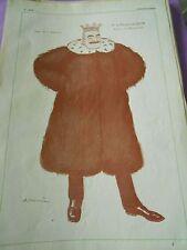 Le Marquis de DION prince de l'automobile dessin A Barrère Print Art déco