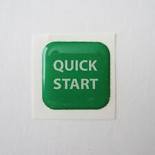 Precor Experience D-Pad Domed Quick Start Decal with Adhesive