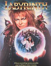 David Bowie - Labyrinth Movie Poster Art Sticker, Magnet