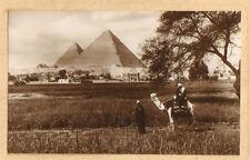 EGYPTE EGYPT PHOTO PYRAMIDES CARTE DE VOEUX