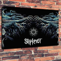 """Slipknot Printed Canvas Picture A1.30""""x20"""" 30mm Deep Heavy Metal"""