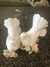 Vintage Homco Home Interior 1998 Ceramic Courtship Doves Figurine #1453