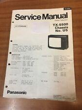 Panasonic TV Service manual TX-5500 chassis U5