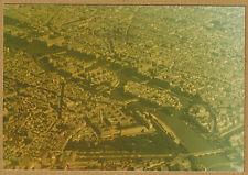 Photo 12 x 9 vintage vue aérienne Paris la Cité et l'île St Louis 1970 jp050