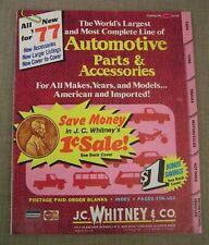1977 Vintage J.C. Whitney Illustrated Car Truck Van Parts & Accessories Catalog
