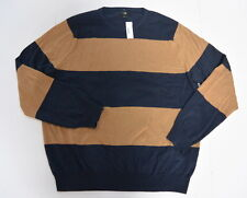 J.Crew Sweater Crewneck XL Striped Cotton Cashmere Long Sleeves NWT