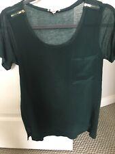 Club Monaco Tshirt Blouse emerald Green Sz Xs