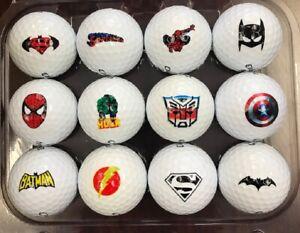 3 Dozen (Super Hero Collection Logos) Callaway Super Soft MINT/AAAAA Golf Balls