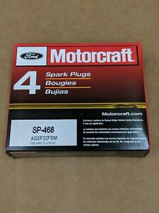 OEM FORD MOTORCRAFT SP-468 PLATINUM SPARK PLUGS BOX OF 4 PLUGS AGSP32FSM