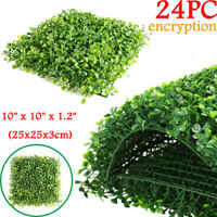 """Privacy Screen Artificial Grass Green Wall Boxwood Hedge Topiary Fence 24x10*10"""""""