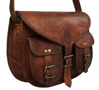 Hot Women's New Vintage Genuine Brown Leather Messenger Shoulder Cross Body Bag