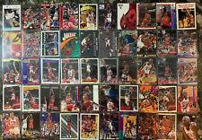 (50) PREMIUM MICHAEL JORDAN 90'S CARD LOT *BASE, INSERTS & MORE* NO DUPLICATES!