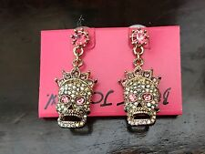 BETSEY JOHNSON Princess Skully EARRINGS - NWT