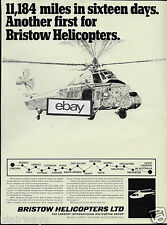 BRISTOW HELICOPTERS LTD 1969 WESSEX 60 LONGEST FLIGHT FOR HELICOPTER 16 DAYS AD