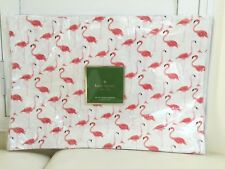 """KATE SPADE Placemats 4x Set Strut your Stuff Coral White Home Dinning 13x19"""" NEW"""