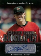 HUNTER PENCE  2007 UD Exquiste Rookie Biography Autograph /20 Texas Rangers