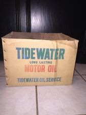 Tidewater Oil Can Case Box Rare! Quart Can Tydol Advertising Sign Gas