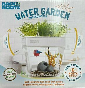 Back to the Roots Water Garden Mini Ecosystem Hydroponics Plus Aquarium (1505)