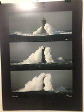 FINE ART LITHOGRAPH: Phare Du Four Lighthouse.  Plisson. 23x31.