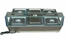 High Quality 5 Pot Commercial Bain Marie Buffet Food Warmer Stainless Steel 110v